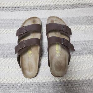 BIRKENSTOCK Brown Arizona Two Strap Sandals